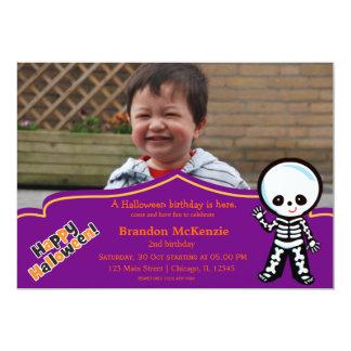 Halloween birthday costume card