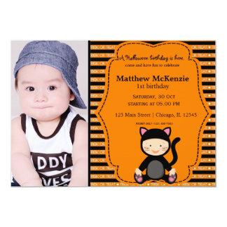 Halloween birthday costume custom invite