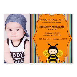 Halloween birthday costume 5x7 paper invitation card