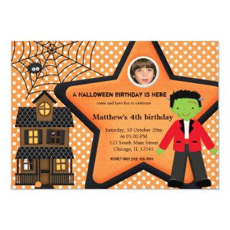Halloween Birthday Costume (Orange) Custom Invites
