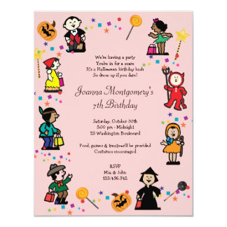 boy girl halloween birthday party invitations & announcements | zazzle, Party invitations