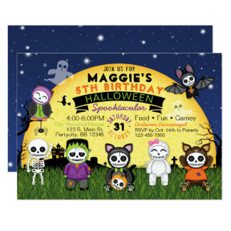 Halloween Birthday Costume Party Invitation