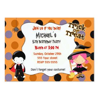 Halloween Birthday Costume Party Invitations