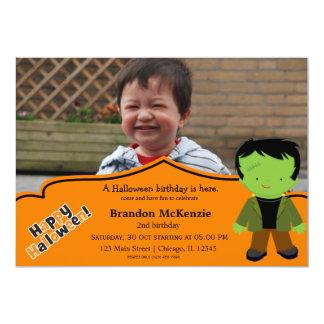 Halloween birthday costume personalized invite