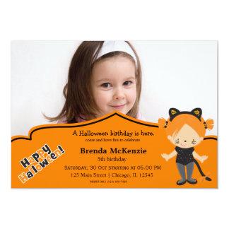 Halloween birthday costume personalized invites