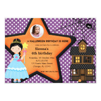 Halloween Birthday Costume (Purple) Card