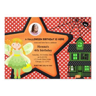 Halloween Birthday Costume (Red) 5x7 Paper Invitation Card