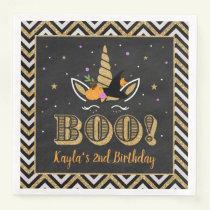 Halloween Birthday Girl Paper Napkin