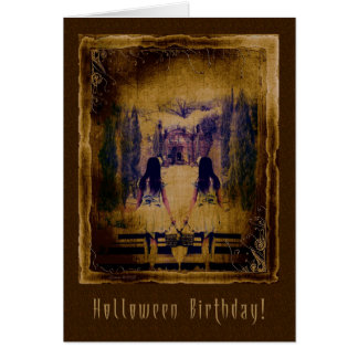 Halloween Birthday - Haunting Spooky Girls Card