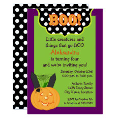 Halloween Birthday Invitation at Zazzle