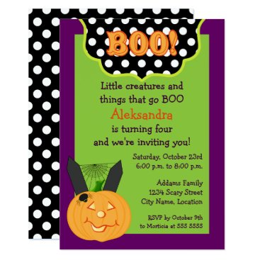 SocialiteDesigns Halloween Birthday Invitation