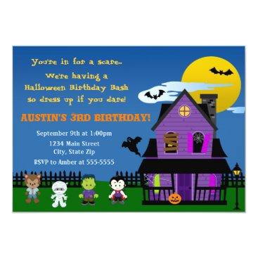 Halloween Themed Halloween Birthday Invitation