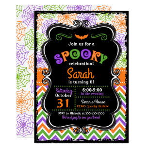 Halloween Birthday Invitations