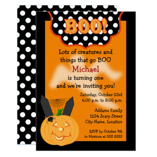 Halloween Birthday Invitations | Zazzle