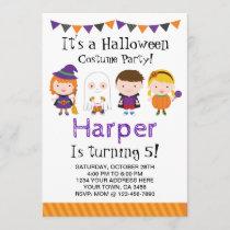 Halloween birthday Invitation, Costume party Invitation