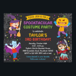 "Halloween Birthday Invitation, costume party, kids Invitation<br><div class=""desc"">Halloween Birthday Invitation,  costume party,  kids</div>"