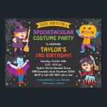 "Halloween Birthday Invitation, costume party, kids Invitation<br><div class=""desc"">Halloween Birthday Invitation,  costume party,  kids</div>"
