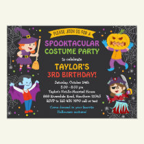 Halloween Birthday Invitation, costume party, kids Invitation