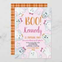 Halloween Birthday Invitation Girl