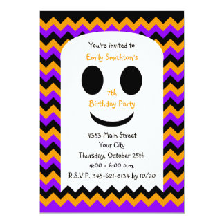 Halloween Birthday Invitation, Halloween Ghost Custom Invites