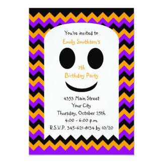 Halloween Birthday Invitation, Halloween Ghost Card
