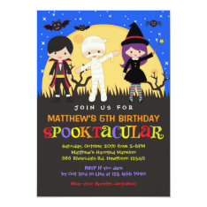 Halloween Birthday Invitation / Halloween Invite at Zazzle