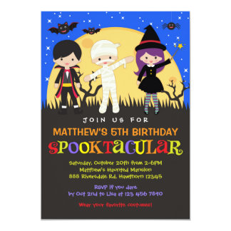 Halloween Birthday Invitation / Halloween Invite