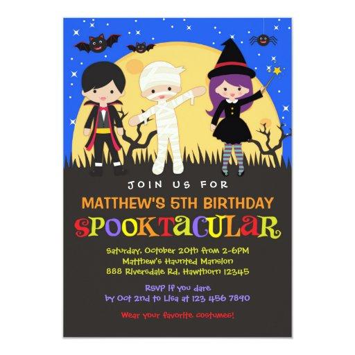 Halloween Birthday Invitation / Halloween Invite