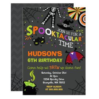 Halloween Birthday Invitation Spooktacular Party