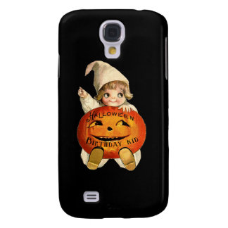 Halloween Birthday Kid with Vintage Art Galaxy S4 Cover