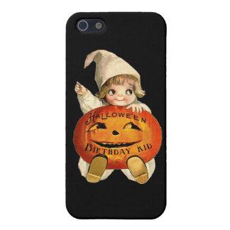 Halloween Birthday Kid with Vintage Art iPhone SE/5/5s Case