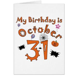 Halloween Birthday October 31st Card
