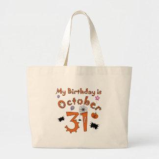 Halloween Birthday October 31st Jumbo Tote Bag