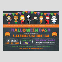Halloween Birthday Party Chalkboard Jack O'Lantern Invitation
