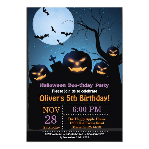 Halloween Birthday Party Invitation
