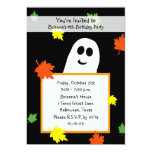 Halloween Birthday Party Invitation - Autumn Ghost