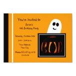 Halloween Birthday Party Invitation -- Boo Custom Invite