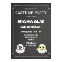 Halloween Birthday Party Invitation Chalkboard