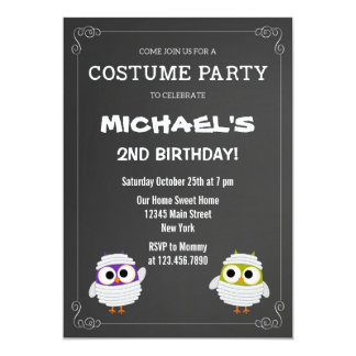 Halloween Birthday Party Invitation Chalkboard