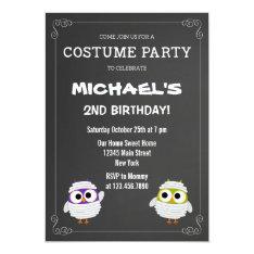 Halloween Birthday Party Invitation Chalkboard at Zazzle