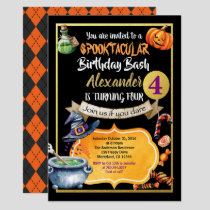 Halloween birthday party invitation for kid