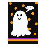 Halloween Birthday Party Invitation -- Ghost