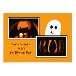 Halloween Birthday Party Invitation - Ghost Invite