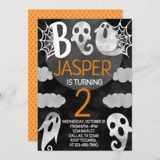 Halloween Birthday Party Invitation Invite