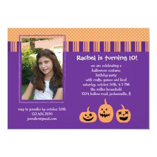 Halloween Birthday Party Photo Invitation