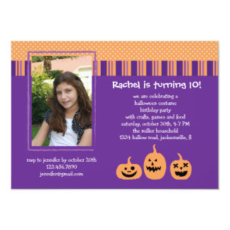 Halloween Birthday Party Photo Invitation