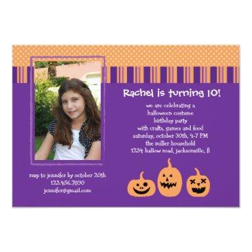 marlenedesigner Halloween Birthday Party Photo Invitation
