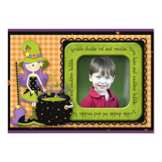 Halloween Birthday Personalized Announcements