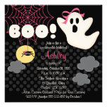 Halloween Birthday Pink Ghost Invitations
