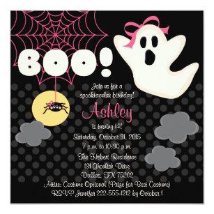 spider web halloween invitations zazzle